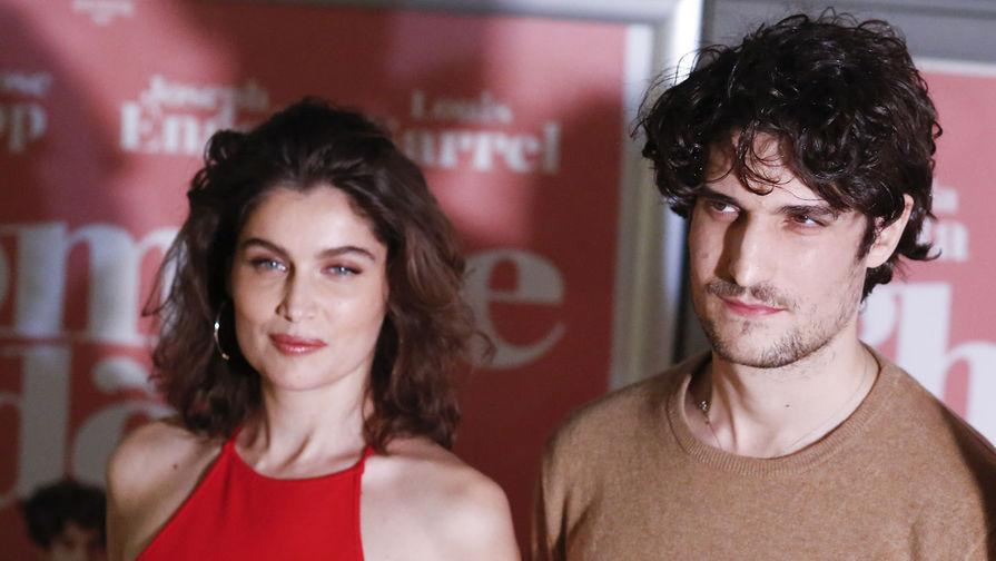 Модель и актриса Летиция Каста и ее муж, актер Луи Гаррель