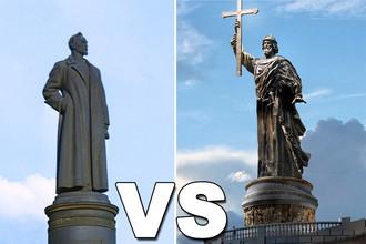 Получается, что на Лубянку будут «претендовать» сразу два памятника: Дзержинскому и князю Владимиру, монумент которому ранее планировалось установить на смотровой площадке Воробьевых гор.