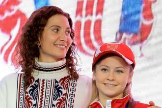 Юлия Липницкая со своим бывшим тренером Этери Тутберидзе