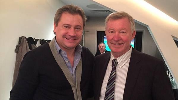 Андрей Канчельскис (слева) и сэр Алекс Фергюсон