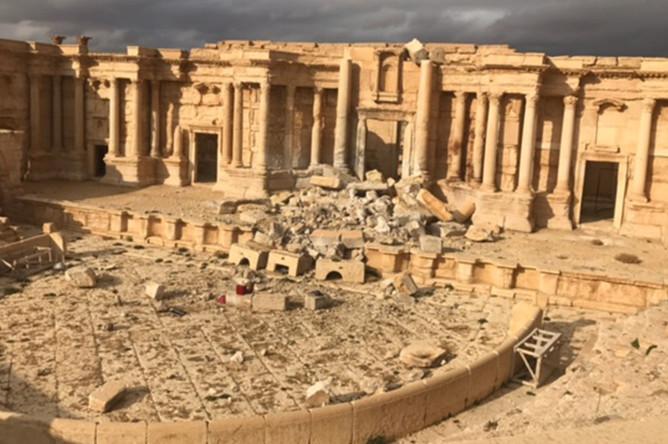 Римский амфитеатр в исторической части сирийской Пальмиры, 2 марта 2017 года