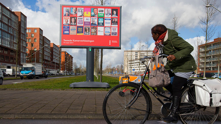 Election advertising in Amsterdam, February 24, 2017