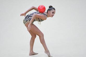 Дина Аверина на домашнем этапе Гран-при по художественной гимнастике
