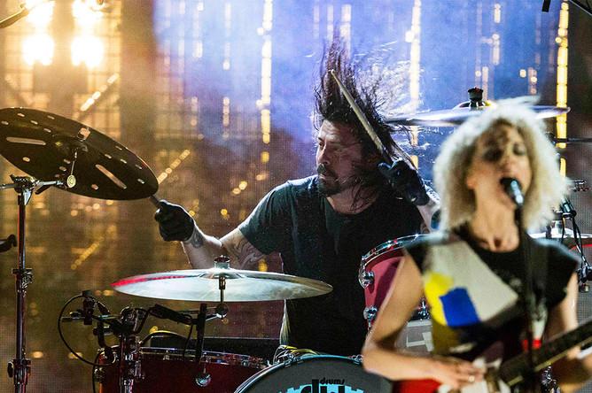 Во время выступления группы Nirvana в бруклинском «Барклайс-центре»