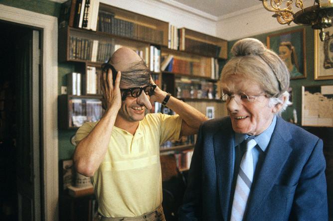Константин Райкин с отцом Аркадием Райкиным, 1987