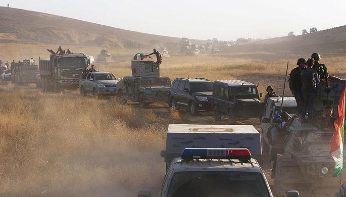 Силы курдов пешмерга к юго-востоку от Мосула, 14 августа 2016 года