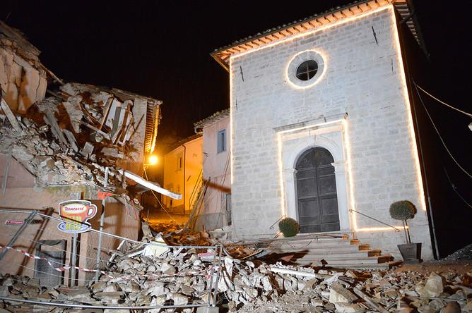 Церковь Святого Себастьяна в коммуне Кастельсантанджело-суль-Нера