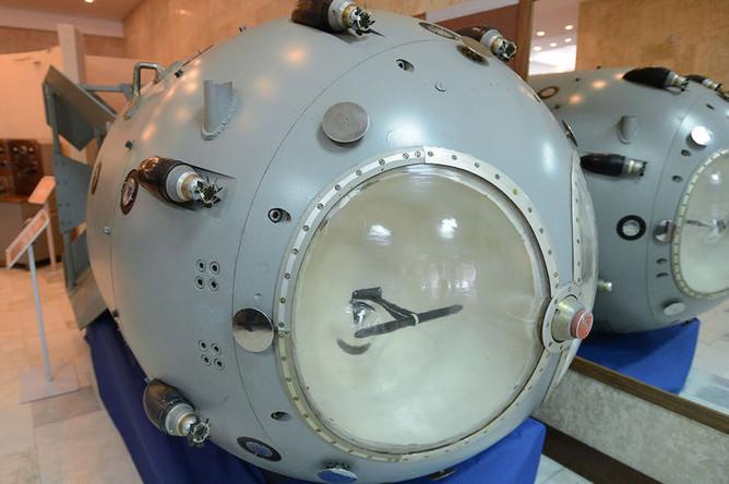 Первая советская атомная бомба РДС-1 в музее Российского федерального ядерного центра