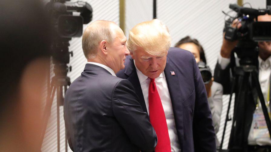 Президент России Владимир Путин и президент США Дональд Трамп, 2018 год