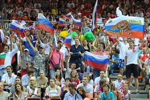 Российские болельщики поддержали команду Владимира Алекно в Гданьске