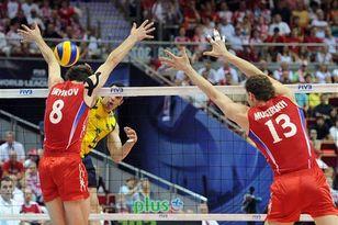 Блок сборной России оказался для бразильцев непреодолимым препятствием