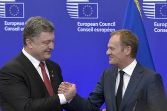Петр Порошенко и глава Евросовета Дональд Туск