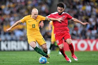Сборная Австралии в противостоянии с командой Сирии