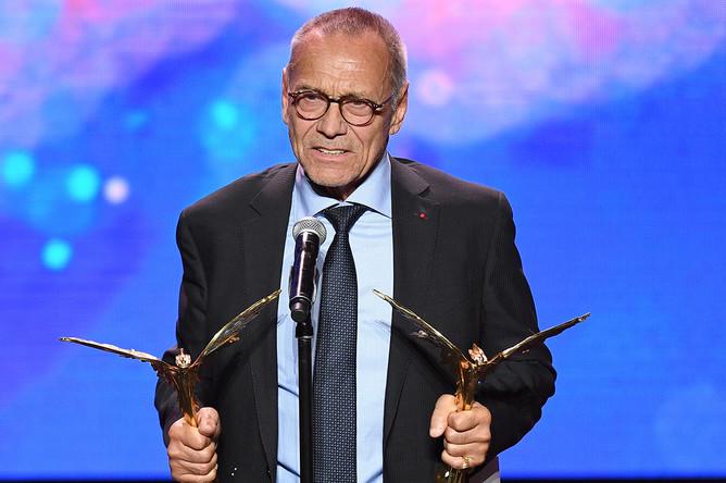 Режиссер Андрей Кончаловский, получивший призы в номинациях «Лучшая режиссерская работа» и «Лучший игровой фильм» за фильм «Рай»