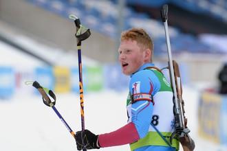 Биатлонист Андрей Вьюхин