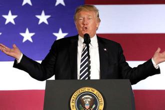Президент США Дональд Трамп во время мероприятия в Шарлотте, штат Северная Каролина, 31 августа 2018 года