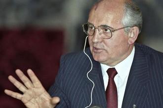 Михаил Горбачев во время пресс-конференции в Доме Всекитайского собрания народных представителей
