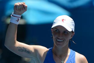 Светлана Кузнецова вышла в четвертый круг теннисного турнира в Майами