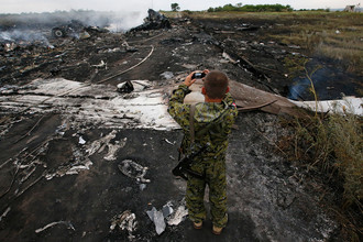 Село Грабово. Место крушения Boeing 777 (рейс MH17), 17 июля 2014 года