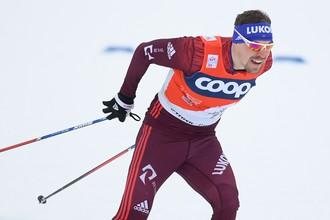 Российский лыжник Сергей Устюгов на этапе многодневки «Тур де Ски»