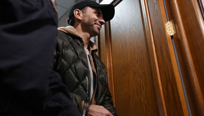 Экс-гендиректор компании «Региональные электрические сети» Сергей Ильичев во время заседания Басманного суда Москвы, 5 апреля 2019 года