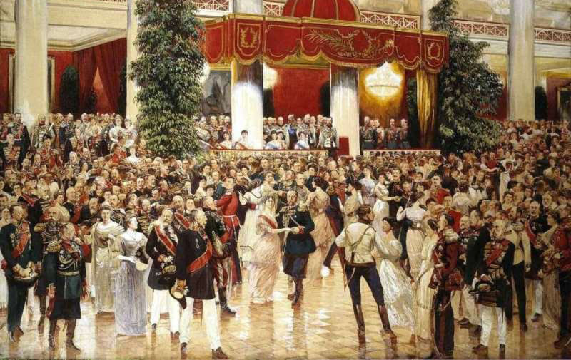 Д.Н. Кардовский. Бал в Петербургском Дворянском собрании. 1913