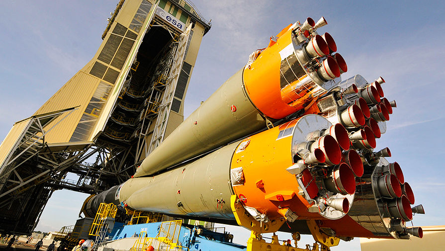Ракета «Союз» на космодроме Куру во французской Гвиане