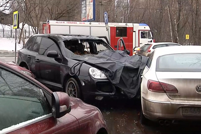 Последствия смертельной аварии на западе Москвы