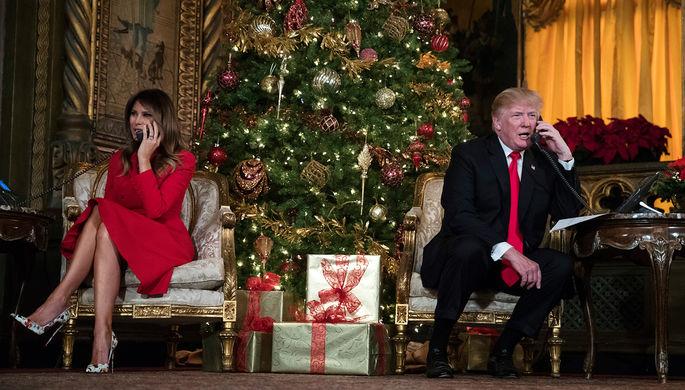 Меланья и Дональд Трамп, 24 декабря 2017 года