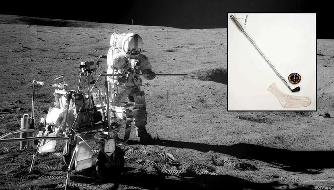 Алан Шепард играет в гольф на Луне, 6 февраля 1971 года