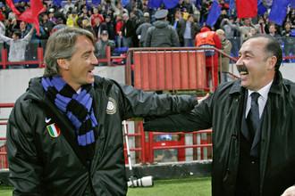 Главный кандидат на пост наставника «Зенита» Роберто Манчини (слева) и бывший главный тренер ЦСКА Валерий Газзаев