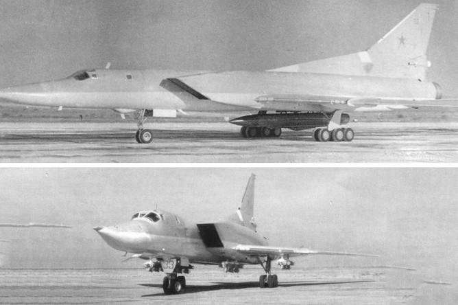 Первый и второй экземпляры Ту-22М3, коллаж
