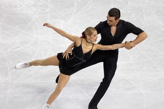 Американская фигуристка Алекса Шимека и ее партнер Крис Книрим