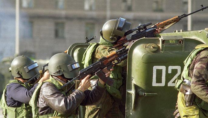 Группа спецназа «Альфа» во время штурма Белого дома, 4 октября 1993 года