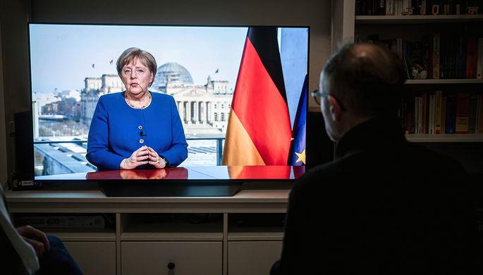 Канцлер ФРГ Ангела Меркель во время обращения к нации в связи с пандемией коронавируса, 18 марта 2020 года