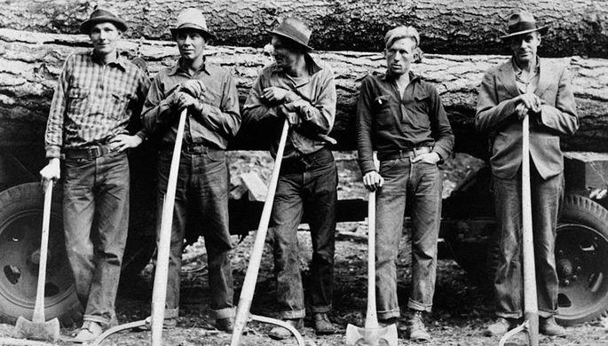 Фермеры в джинсах, 1930-е
