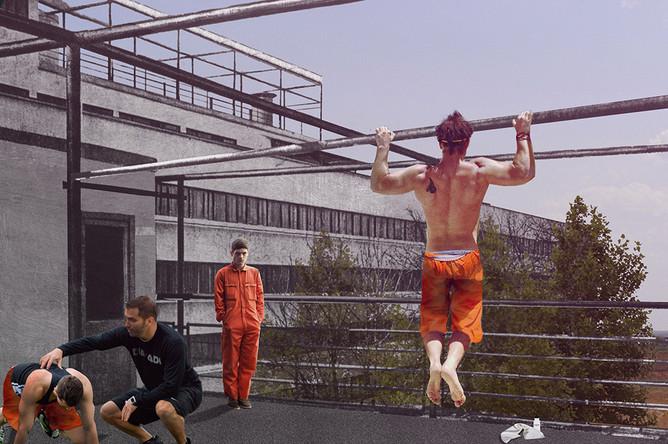 Коллаж «Тюрьма» для стенда «Narkomfin™»