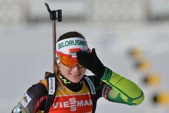 Дарья Домрачева выиграла три гонки из последних четырех