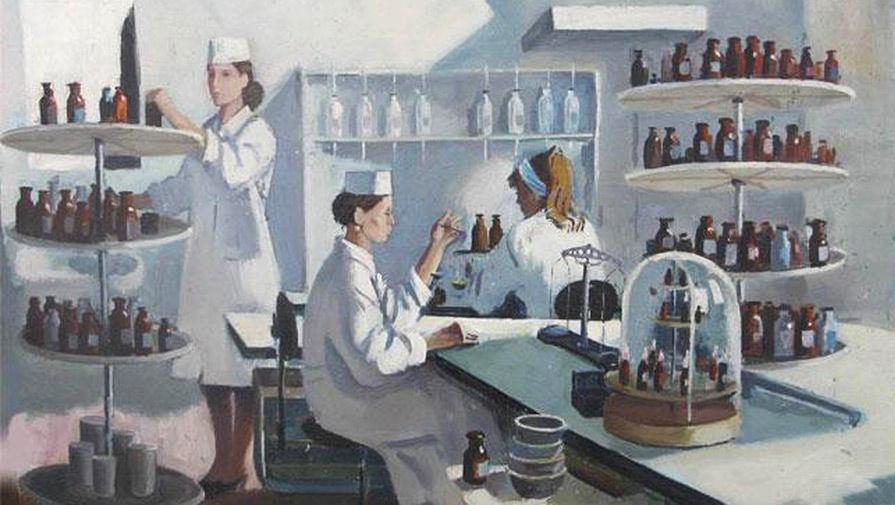 история лекарств в картинках видно много мест