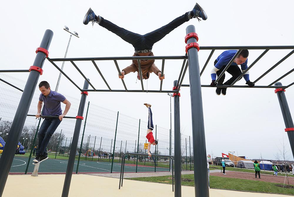 В Москве становится все больше площадок для занятий спортом