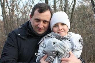 Александр Марголин с младшей дочерью