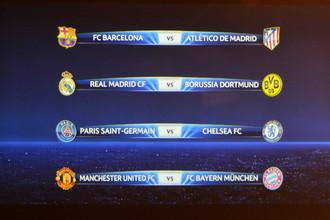 «Манчестер» встретится с «Баварией», «Барселона» — с «Атлетико»