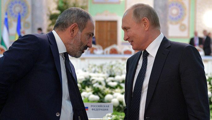 Путин обсудил с Пашиняном инцидент на армяно-азербайджанской границе