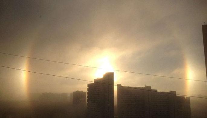 Три солнца появились над Екатеринбургом