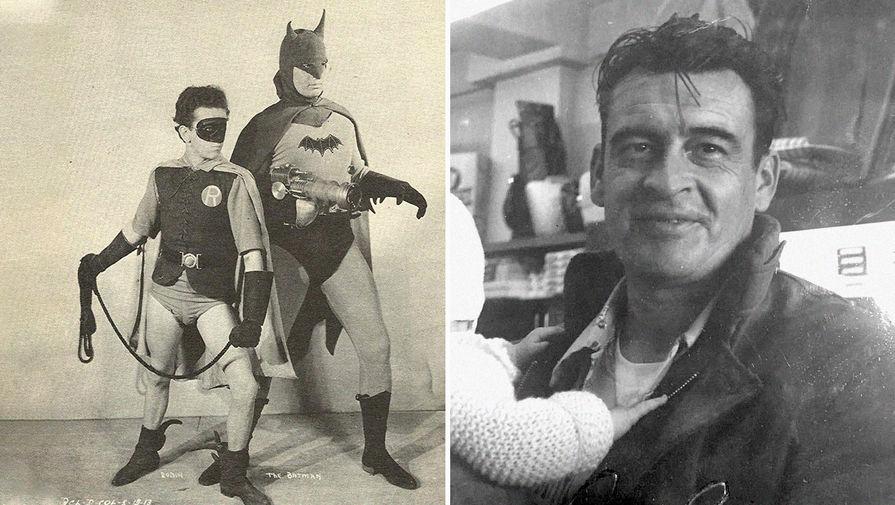 Льюис Уилсон в сериале «Бэтмен» (1943)<br><br> Первым актером, сыгравшим Бэтмена, стал Льюис Уилсон, которому на момент приглашения в сериал 1943 года было всего чуть более двадцати лет. Дальнейшая карьера Уилсона в кино особо не задалась, и вскоре он навсегда покинул шоу-бизнес, устроившись на работу в пищевую компанию