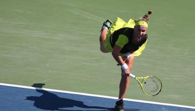 Российская теннисистка Светлана Кузнецова чуть не оступилась на 18-летней чешке Маркете Вондроушовой