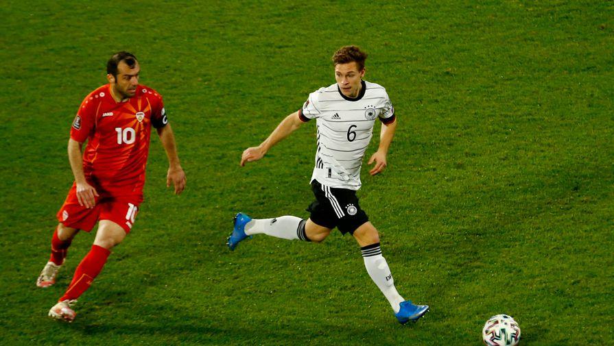 Эпизод матча Германия- Северная Македония