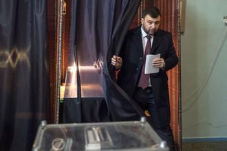 Исполняющий обязанности главы Донецкой народной республики, кандидат на должность главы республики Денис Пушилин