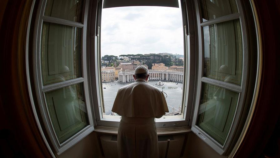 Папа Римский Франциск во время еженедельной проповеди в Ватикане с трансляцией в интернет, 29 марта 2020 года