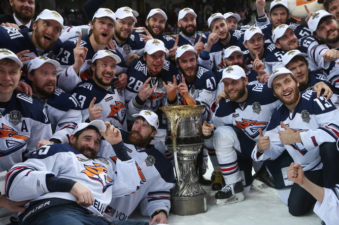 «Магнитка» выиграла свой второй Кубок Гагарина